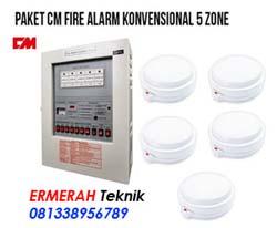 Harga fire alarm konvensional 5 zone